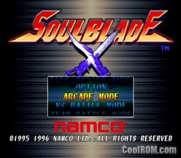 Soul Blade (v1 1) ROM (ISO) Download for Sony Playstation / PSX