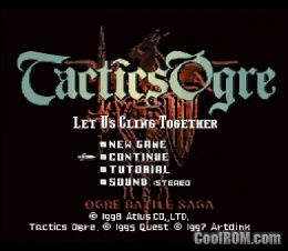 Tactics Ogre ROM (ISO) Download for Sony Playstation / PSX