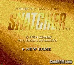 Snatcher ROM (ISO) Download for Sega CD - CoolROM com