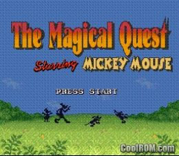 Magical Quest Starring Mickey Mouse ROM Download for Super