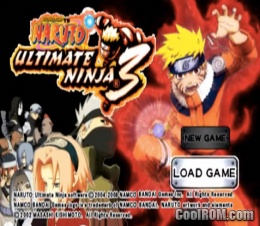 Naruto Ultimate Ninja 3 Rom Iso Download For Sony Playstation 2 Ps2 Coolrom Com